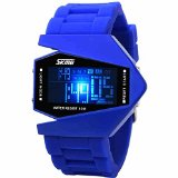 Military Cool LED Display Watches Sport Water-proof Stealth fighter Style Wrist Watches -E