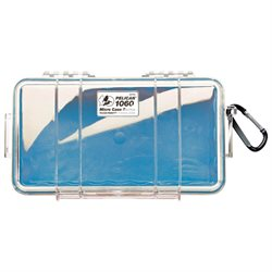 Pelican Micro Carrying Case for Electronic Equipment - Clear, Blue - Water Resistant, Dust Proof, Crush Proof - Polycarbonate