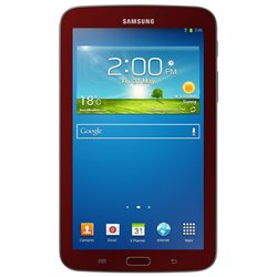 Samsung Galaxy Tab 3 SM-T210 8 GB Tablet - 7 - Wireless LAN - Marvell ARMADA PXA986 1.20 GHz - Garnet Red - 1 GB RAM - Android 4.1 Jelly Bean - Slate - 1024 x 600 Multi-touch Screen Display - Bluetooth