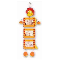Puzzled 9501 Fun Frames - Orange Dino - 3 Hanging Square Frames 3.5 in. x 5 in.