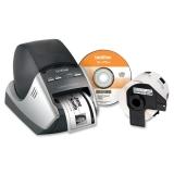 Ql-570vm Label Printer Bundle Visitor Badge & Management Kit