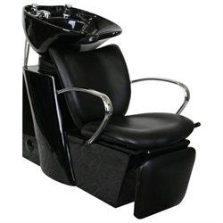 Classic Round Chrome Handle Shampoo Backwash Unit with Leg Rest SU-06
