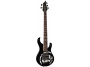 B.C. Rich John Moyer Signature Havoc 5 String Electric Bass, Black with Skull Graphic