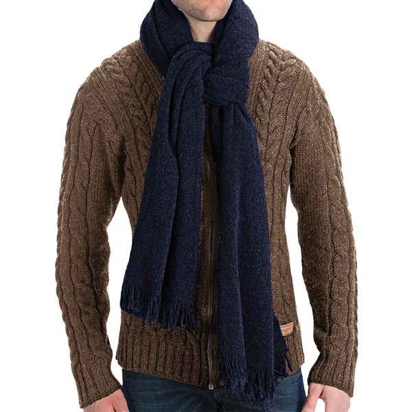 Altea Knit Wool Boucle Scarf - 76x24? (for Men)