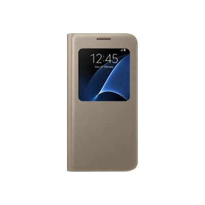 Samsung Electronics Ef-cg930pfegus Galaxy S7 Sview Flip Cover - Gold