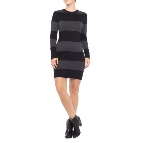 Rugby Stripe Sweater Dress - Long Sleeve (for Women)