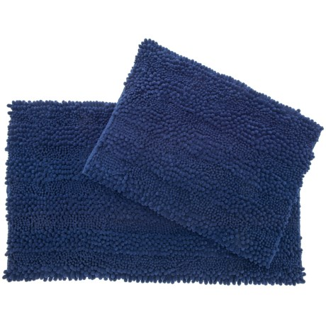 Astor Chenille Bath Rug Set - 2-piece, Indigo