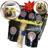 cgb_127056_1 BLN Italian Renaissance Fine Art Collection - Virgin and Child Enthroned with SS Nicholas of Bari by Gentile Da Fabriano - Coffee Gift Baskets - Coffee Gift Basket