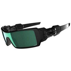 Oakley Oil Rig (Polished Black/Emerald Iridium) Sunglasses