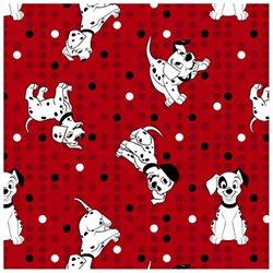 Disney-101 Dalmatians 43/44 Wide 100% Cotton D/R-101 Dalmatians Star Toss