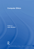 The study of the ethical issues related to computer use developed primarily in the 1980s, although a number of important papers were published in previous decades, many of which are contained in this volume