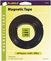 Promag Products Afg-12345-pgy Heavy-duty Magnetic All Purpose Tape With Adhesive Roll - 1.0 Inch X 10 Feet