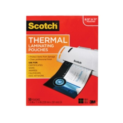 3m Tp3854-50 Thermal Pouches  Letter Size  9 In X 11.4 In 50/pack