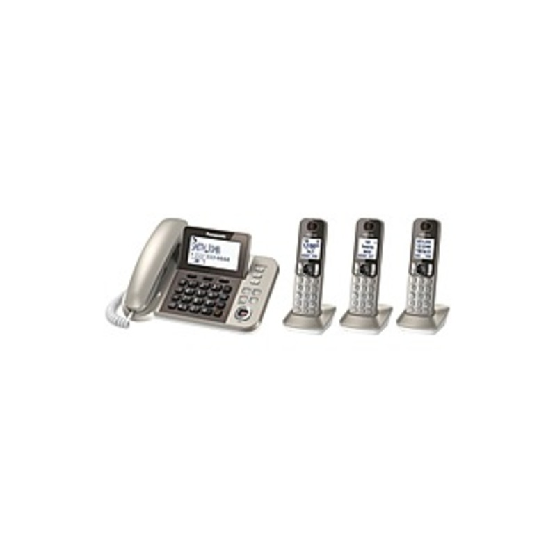 Panasonic Kx-tgf353n Dect 6.0 Cordless Phone - Champagne Gold - Corded/cordless - 1 X Phone Line - Speakerphone