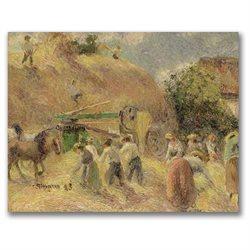 Camille Pissarro 'The Harvest' Canvas Art