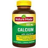 Nature Made Calcium (Carbonate) 600 mg w. Vitamin D3 400 IU Softgels 3 Pack