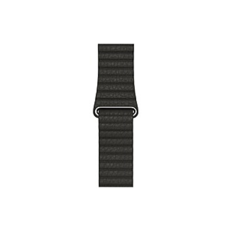 Apple 42mm Charcoal Gray Leather Loop - Medium - Charcoal Gray - Leather