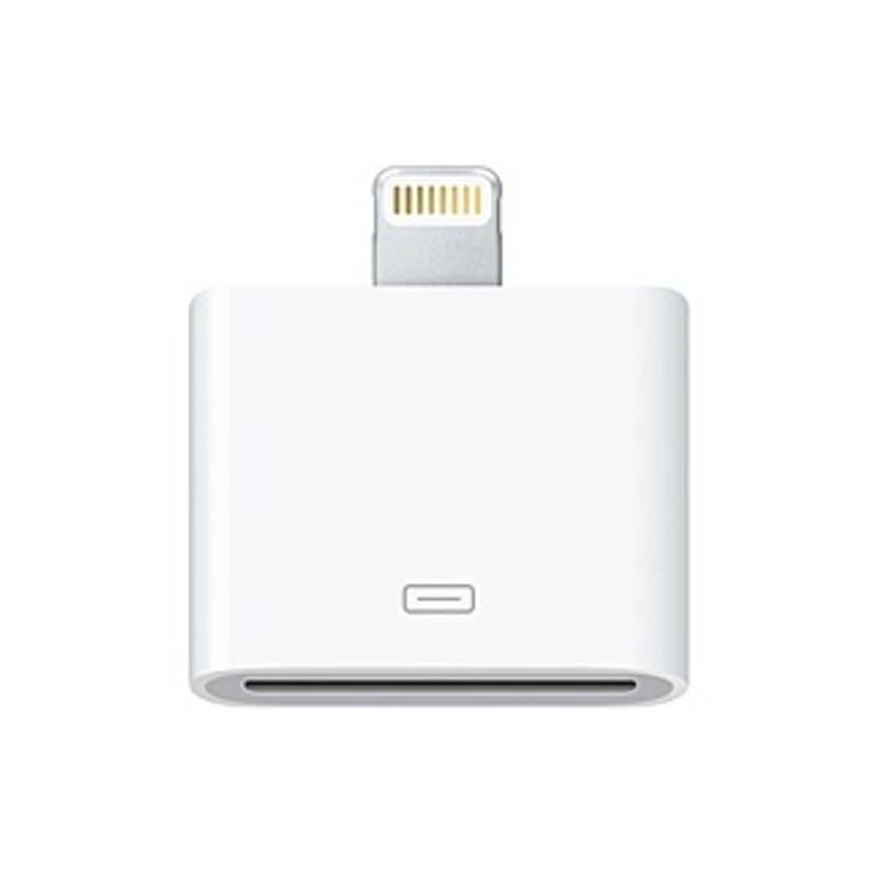 Apple Lightning To 30-pin Adapter - 1 X Apple Dock Connector Female Proprietary Connector - 1 X Lightning Male Proprietary Connector