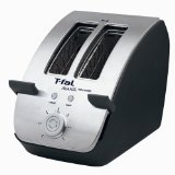 T-fal TT7061 Avante Deluxe 2-Slice Toaster with Bagel Function, Black