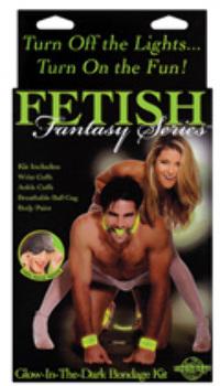 Fetish Fantasy Series Glow In The Dark Bondage Kit
