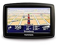 The TomTom GPS offers easy to use widescreen navigation