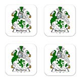 Sherborne Family Crest Square Coasters Coat of Arms Coasters - Set of 4