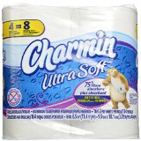 Charmin Ultra Soft Toilet Paper Double Rolls, 164 sheets, 4 rolls