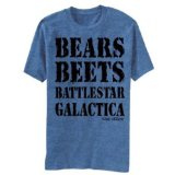 The Office T-shirt - Bears Beets Battlestar Galactica (Small)
