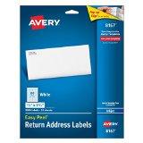 Avery Easy Peel Return Address Labels for Inkjet Printers 1/2