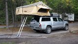 Tuff Stuff Overland Rooftop Camping Tent with Annex Room- Black Driving Cover