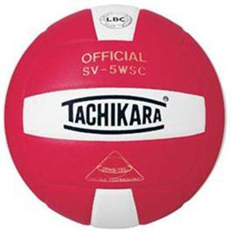 NFHS SV-5WSC Indoor Competition Volleyballs SCARLET/WHITE REGULATION