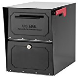 Architectural Mailboxes 6200B-10  Oasis Classic Locking Post Mount Parcel Mailbox with High Security Reinforced Lock