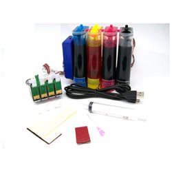Continuous Ink Supply System for Epson NX125 NX127 NX130 Workforce WF 320 325 CIS CISS Cartridges
