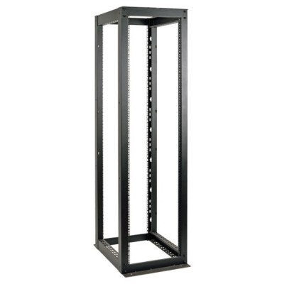 Tripplite Sr4post50hd 50u 4-post Open Frame Rack Cabinet Heavy Duty 3000lb Capacity