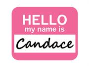 Candace Hello My Name Is Mousepad Mouse Pad