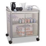 Impromptu Refreshment Cart, 1-Shelf, 30-3/4 x 19-1/2 x 36-3/4, Silver/Gray
