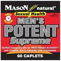 Mason Natural, Men's Potent Supreme, 60 Caplets