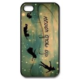 Peter Pan Never Grow Up Classic Custom Hard Protective Back Case Cover for iPhone 4 4s