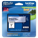 "Brother TZE151 Label Tape - 1"" Width x 26.20 ft Length - 1 Each"