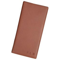 Personalized Nappa Leather Oversized Airline Ticket & Passport Holder