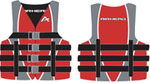 Airhead 1001005ard Family Nylon Life Vest - Adult Large / Xl Red