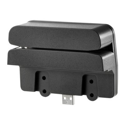 Hp Inc. Qz673aa Retail Integrated Dual-head Msr - Magnetic Card Reader - Usb -  Jack Black - For Rp7 Retail System 7100  7800