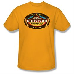 Mens SURVIVOR Short Sleeve VANUATU Small T-Shirt Tee