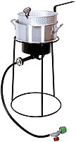 The King Kooker 22PKPT Outdoor Cooker Recessed Top Ring and Large Bottom Ring for Extra Safety and Stability