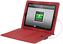 Innovative Technology Itj-4231red Ultra-slim Justin Power Case For Ipad 2, 3, 4 - Red