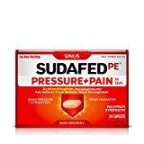 Sudafed PE Pressure   Pain Caplets, Sinus Pain Relief, 24 Count