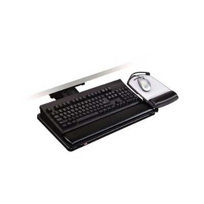 3m Akt101le Adjustable Keyboard Tray  Lever Adjust Arm  11.7 In X 24.4 In X 7.2 In 17.75in Track  Adjustable Platform