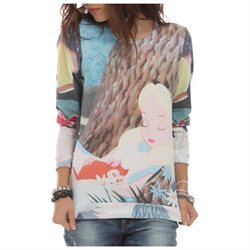 Disney Alice In Wonderland Sleeping Pullover Top