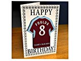 Burnley - PERSONALISED Greetings Card (inc Removable Shirt Shaped Magnet)
