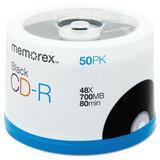 CD-R Discs, 700MB/80min, 48x, Spindle, Black, 50/Pack